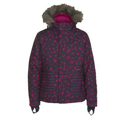 New O'Neill Girls Youth Radiant Snowboard Jacket Size 10 / 152 Blue AOP Pink