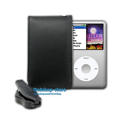New PU Leather Sleeve Pouch Case W//Belt Clip for iPod Classic 80GB//120GB//160GB