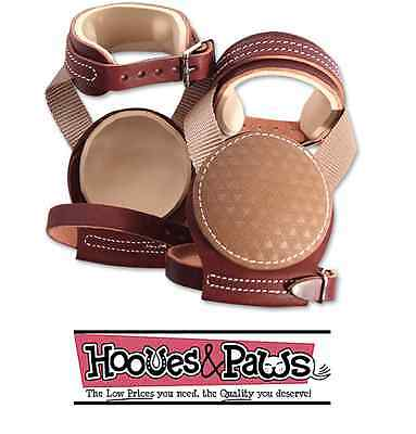 Classic Equine Horse Leather Skid Boots Slide Buckle Heavy Duty Tack