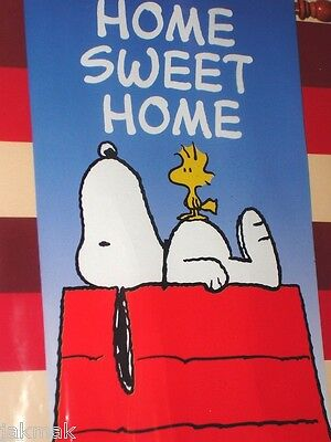 Peanuts Snoopy HOME SWEET HOME Small Flag Red~White~Blue! New!
