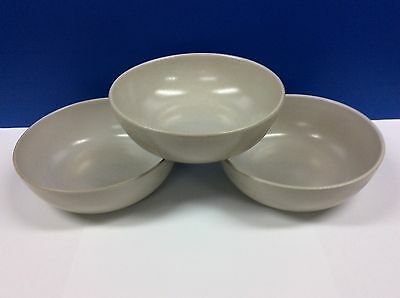 """2 Edith HEATH POTTERY Soup/Salad Bowls Speckled White Pattern 6 5/8"""""""