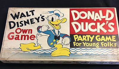 "1938 Parker Brothers Walt Disney's own  ""Donald Duck's Party Game""  WDE uncommon"