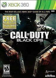 Call of Duty Black Ops video game for Xbox 360