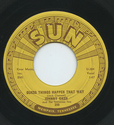 Hear - Rare Country 45 - Johnny Cash - Guess Things Happen That Way - Sun # 295