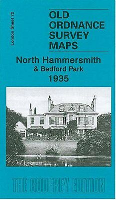 Old Ordnance Survey Map North Hammersmith & Bedford Park 1935