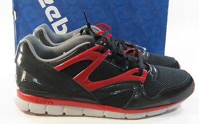6bf3d4dcbff6 MENS REEBOK OMNI Run In Colors Black   Ex Red   Grey   Steel Size 9 ...