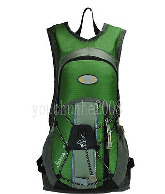 CYCLING BICYCLE HYDRATION WATER PACK BAG BACKPACK BIKE SPORTS GREEN-35290