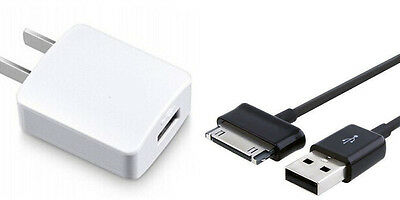 Travel USB Data Cable Charger Samsung Galaxy Tab 2 Note 7.0 7.7 8.9 10.1 Tablet