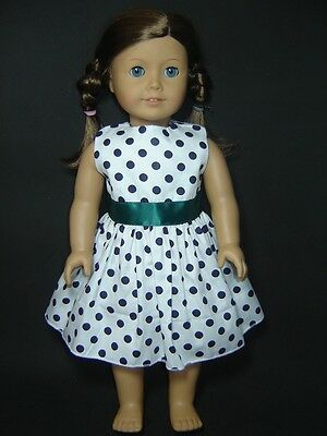 Cute Dot Dress fits 18'' American Girl Dolls Handmade Clothes AG202