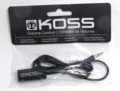 164210 KOSS VC20 In-Line Headphones/Earphones Volume Control extension Cable