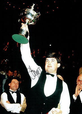 John PARROTT Signed Autograph 16x12 SNOOKER World Champion Photo AFTAL COA
