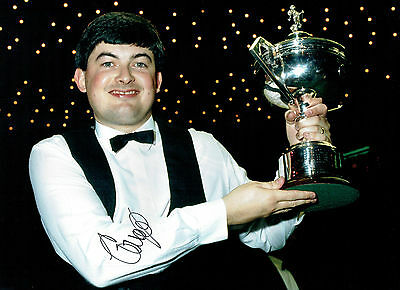 John PARROTT Signed Autograph 16x12 SNOOKER Crucible Champion Photo AFTAL COA