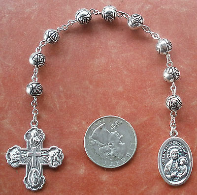 Handmade Our Lady of Czestochowa Chaplet + *Rosebuds* + Rosary + Comfort Cross