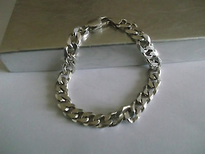925 STERLING SILVER CURB  BRACELET,7 1/4 INCHES,18g