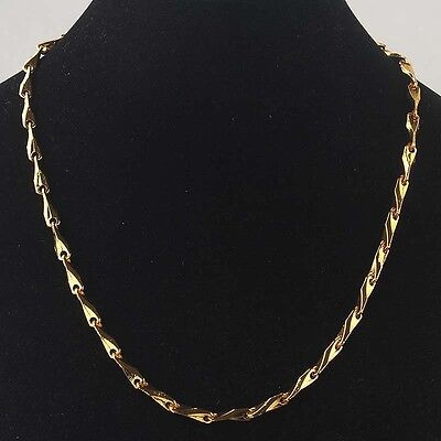 Hot New Free Shipping Women 14k Gold Filled Yellow Chain Pendant Necklace BB1985