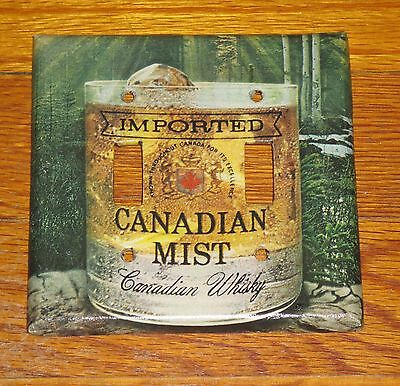 Vintage Style Imported Canadian Mist Whisky 2 Hole Light Switch Cover Plate