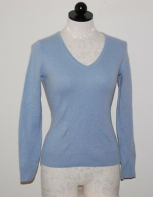 Daniel Bishop 100% Cashmere Blue V-Neck Sweater XS