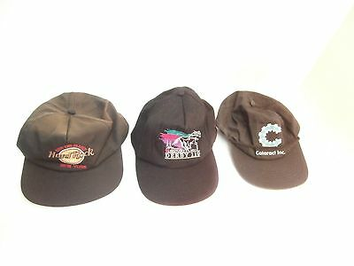 Hard Rock Cafe Kentucky Derby Vintage Hats Collection of 3 Hats Damage Sale