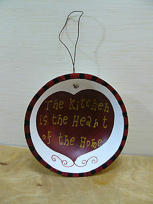 NEW Kitchen Slogan Dish Ornament THE KITCHEN IS THE HEART OF THE HOME