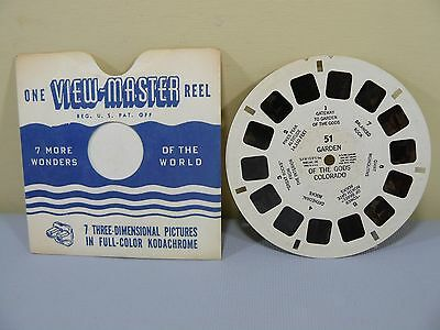 Sawyer Viewmaster Reel 51 Garden of the Gods Colorado Landscape US View-Master