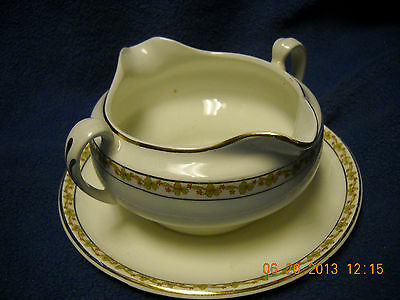 Antique  Knowles Taylor Knowles, K T & K China double handle gravy dish