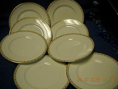 Antique  Knowles Taylor Knowles, K T & K China, 8 PLATES