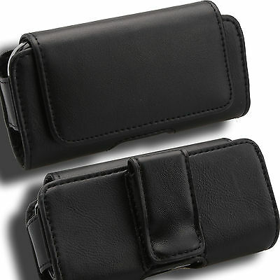 Case for LG Voyager KAUB Cover Pouch Holster Leather VX10000 Verizon Black