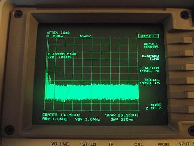 Agilent HP 8563E Spectrum Analizer VERY LOW HOURS Options 005 & 007