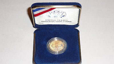 U.S. 1987 CONSTITUTION GOLD FIVE DOLLAR PROOF COIN