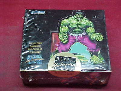 MARVEL MASTERPIECES 1992 TRADING (36 PACKS) CARD BOX #149019 - JOE JUSKO ARTWORK