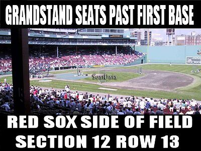 2 Boston Red Sox Tickets 4/15 Washington Nationals Fenway Grandstand First Base