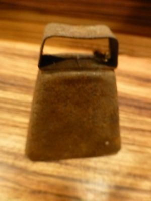 "Great antique vintage primitive cow bell - part of collection 3 1/2""  iron"