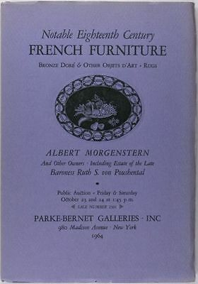 French Antique Furniture + Antiques -Morgenstern Collection 1964 Catalog