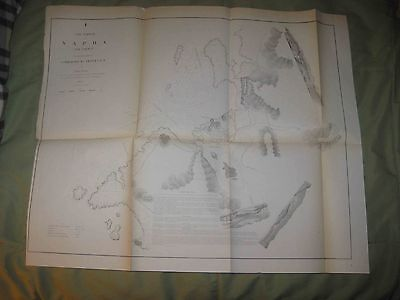 Superb Antique 1854 Naha Okinawa Japan Commodore Perry Map Asia Maritime Chart N