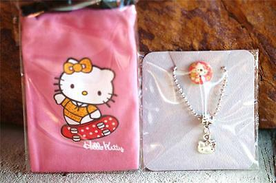 Silver Cute Kitty Necklace and Pink Skateboard Pouch Set USA Fast Ship mrx31