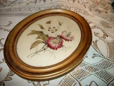 30s ART DECO CHIC REDOUTE MUTED FLORAL PRINT SHABBY CHIPPY COTTAGE ROMANTIC VTG
