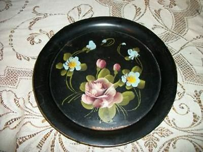 CHIPPY CHIC HP ROSES TOLE TRAY VANITY VINTAGE SHABBY COTTAGE
