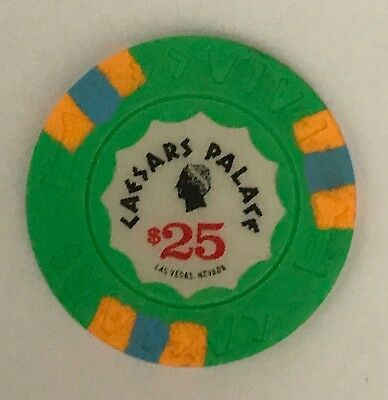 Caesars Palace Las Vegas $25 Casino Chip Obsolete Old