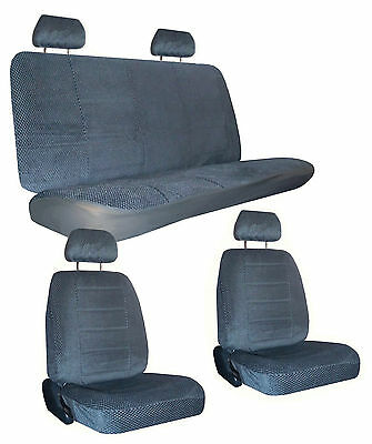 Charcoal Grey Scottsdale Fabric Car Seat Covers & Head Rest Covers sc-1124-cc-1