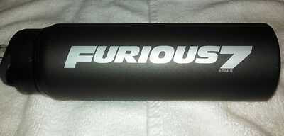 The Fast & and the Furious 7 Vin Diesel Paul Walker rare promo h2go water bottle