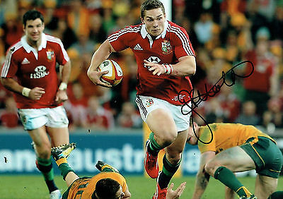 George NORTH Signed Autograph 18x12 RARE British Lions Rugby Union AFTAL COA