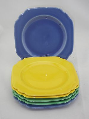 "6 Homer Laughlin 1930's RIVERIA Fiesta Ware 6 1/4"" Bread Dessert Plates Set of 6"