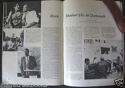 DARTMOUT vs BROWN FOOTBALL 1968 African-American Black Student Life at Dartmouth