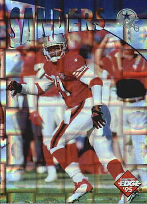 1995 Collector's Edge Instant Replay Prisms #34 Deion Sanders