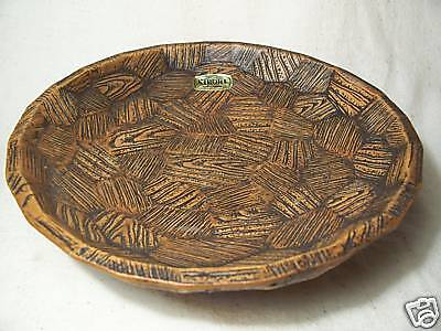 "KIBORI NAPCOWARE BOWL - ""Woodgrain""- National Potteries"
