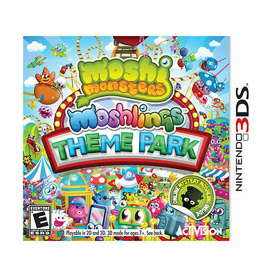 MOSHI MONSTERS MOSHLING THEME PARK (3DS, 2012) NEW & SEALED