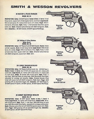 1985 Smith Wesson Military & Police 64 65 Model 66 & 67 Masterpiece Revolver Ad