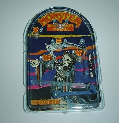 SPECTRE   MINI PINBALL MONSTER IN MY POCKET collectible toy ARGENTINA