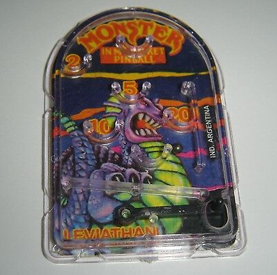 LEVIATHAN  MINI PINBALL MONSTER IN MY POCKET collectible toy ARGENTINA