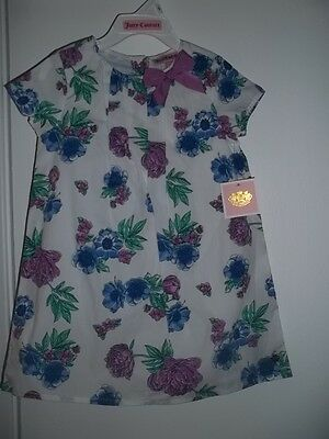 JUICY COUTURE BABY-GIRL  FLORAL DRESS WHITE/PURPLE   $78  Sz 4T  NWT